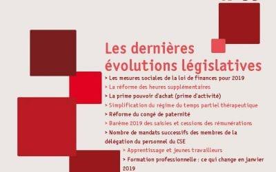Repères n°56, les dernières évolutions législatives
