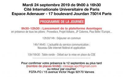 Le 24 septembre 2019, la FGTA-FO innove et crée l'événement avec le lancement de la Plateforme avantages