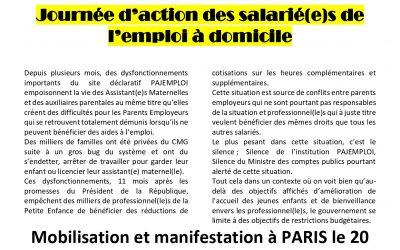 Le 20 novembre : Journée d'action des salarié(e)s de l'emploi à domicile