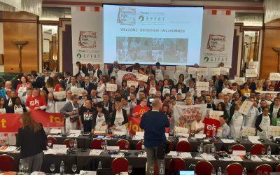 La FGTA-FO au Congrès EFFAT de Zagreb: Renforcer la paix, la démocratie et la justice sociale