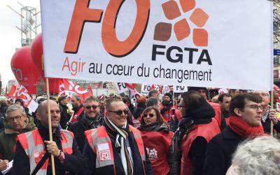La FGTA-FO dans l'action le 29 janvier #Retraites