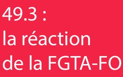 49.3, la réaction de la FGTA-FO