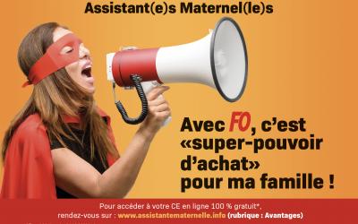 FO offre gratuitement aux assistantes maternelles l'accès à sa Plateforme Avantages