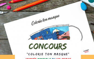 """Journée mondiale du coloriage : Concours de la Plateforme Avantages """"Colorie ton masque"""""""