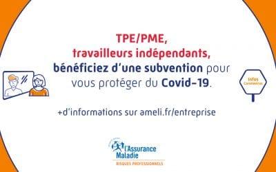 Une subvention pour aider à prévenir le Covid-19 au travail
