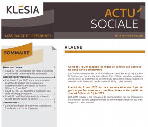 Newsletter partenaires 13   Actualité Sociale Klesia   FGTA FO