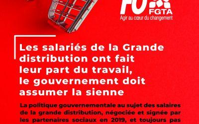Pour une extension urgente des salaires de la Grande distribution !