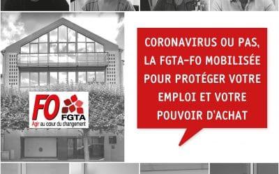 Coronavirus ou pas, la FGTA-FO mobilisée !