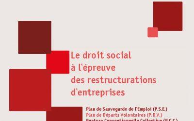 """Repères n°62 """"Le droit social à l'épreuve des restructurations d'entreprises"""""""