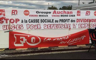 Grève sur la base logistique Auchan Retail France pour défendre les emplois