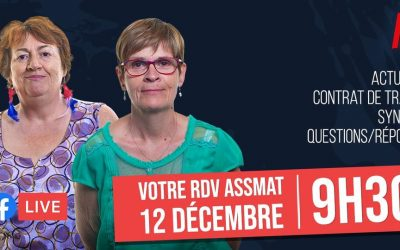 Facebook Live : le rendez-vous des Assmat samedi 12 décembre