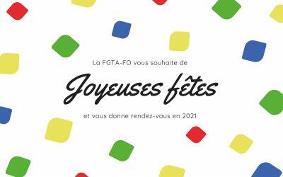 La FGTA-FO vous souhaite de bonnes fêtes de fin d'année