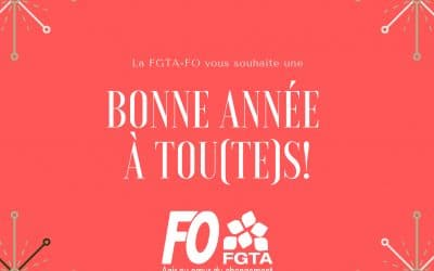 La FGTA-FO vous souhaite une excellente année 2021 !