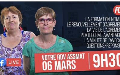 Le rendez-vous des Assmat – Facebook live samedi 6 mars