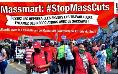 #StopMassCuts Solidarité syndicale internationale dans la Grande distribution