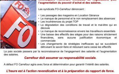 5 octobre : FO Carrefour appelle à la mobilisation