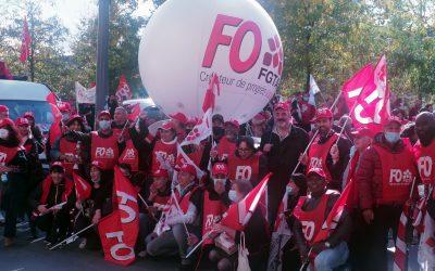 5 octobre 2021 : une mobilisation massive des adhérents de la FGTA-FO