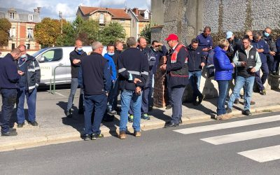 Grève des salariés champagne Maison Burtin du groupe Lanson