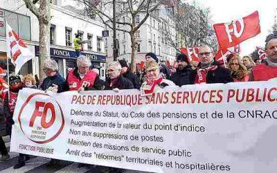 FO-fonction publique : une mobilisation massive à deux pas de Matignon