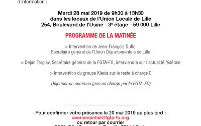 Invitation colloque le mardi 28 mai à Lille